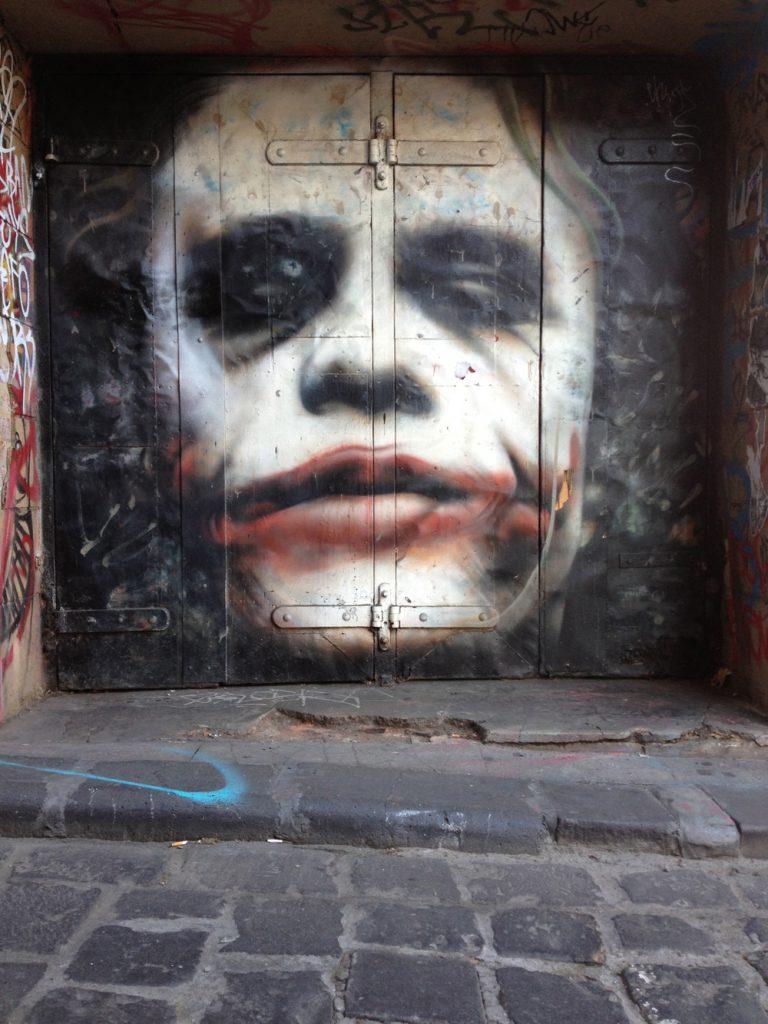 Owen Dippie's Joker Street Art artFido