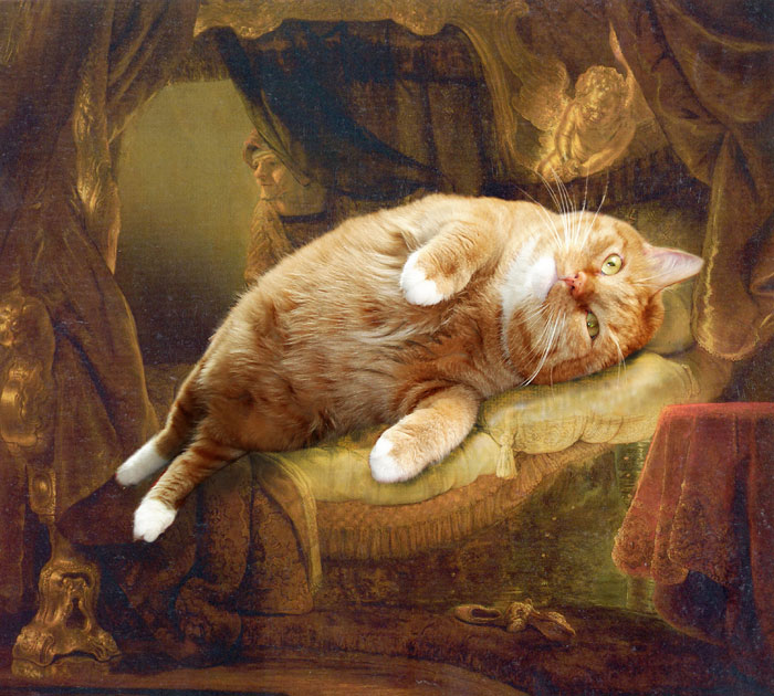 fat-cat-photoshopped-into-famous-artworks-5