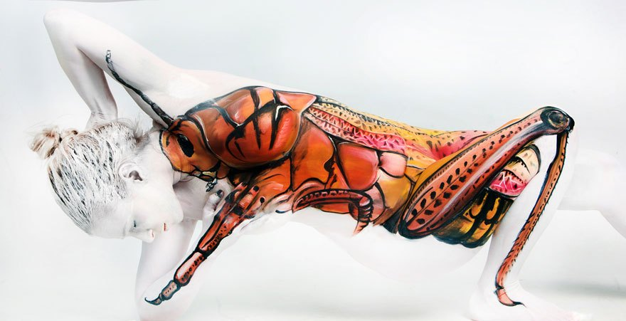 Unbelievable Body Paintings That Transform People Into Animals And Organs Artfido