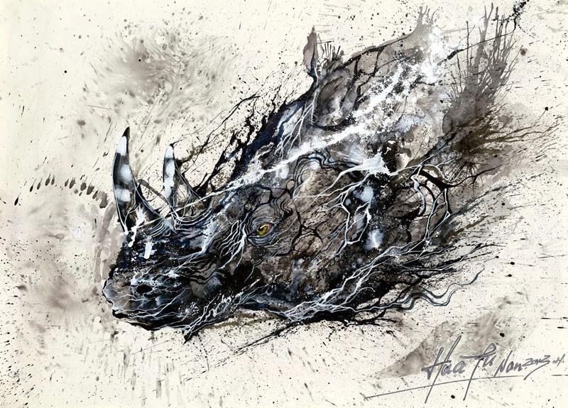 splatter-ink-animal-portraits-by-hua-tunan-12