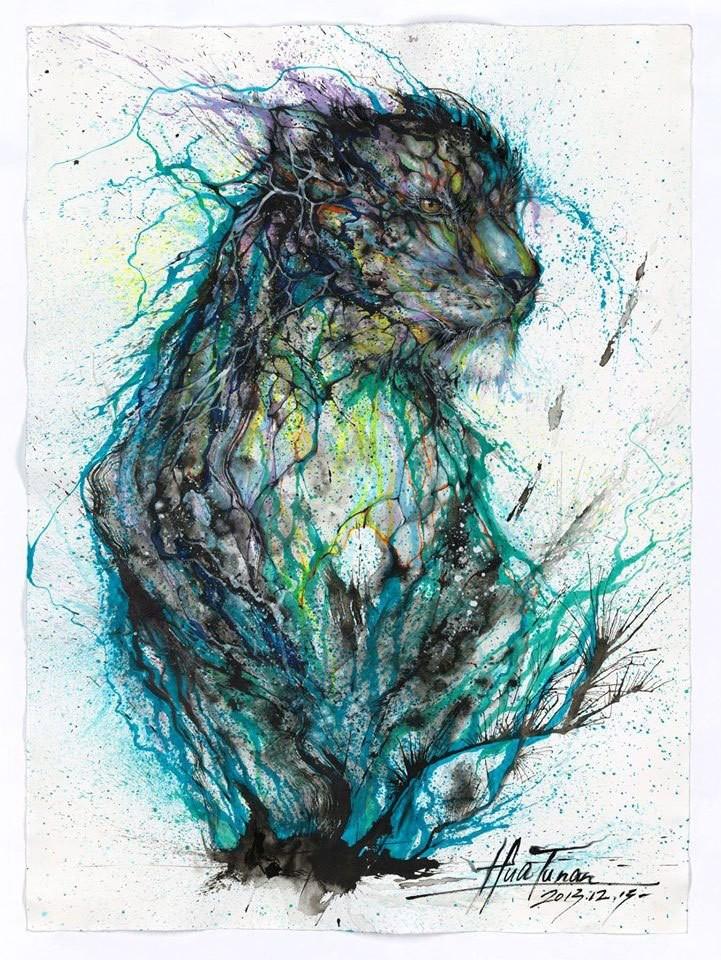 splatter-ink-animal-portraits-by-hua-tunan-9