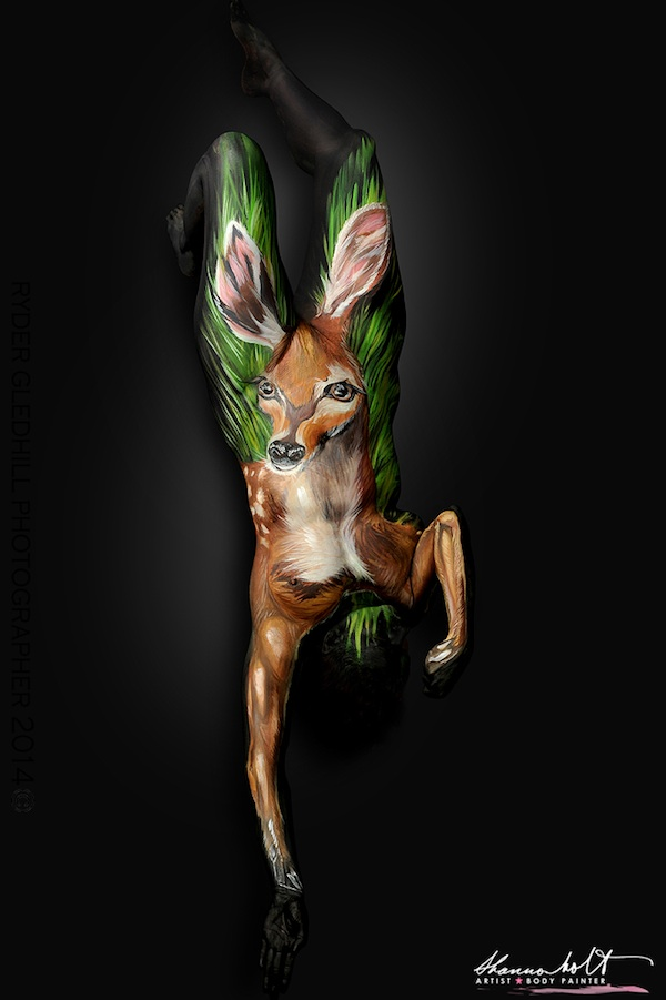 Amazing Body Painting Turns Humans Into Animals Artfido