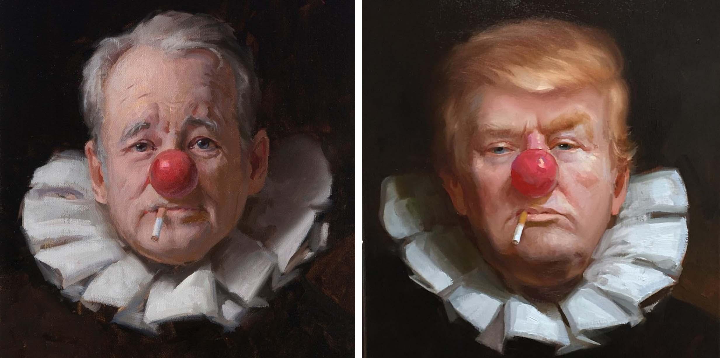Artist Turns The Worlds Biggest Clowns Into Actual Clowns Artfido