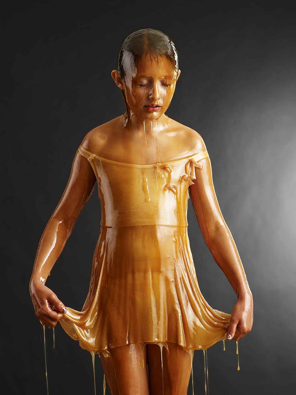 Covered honey Girl in