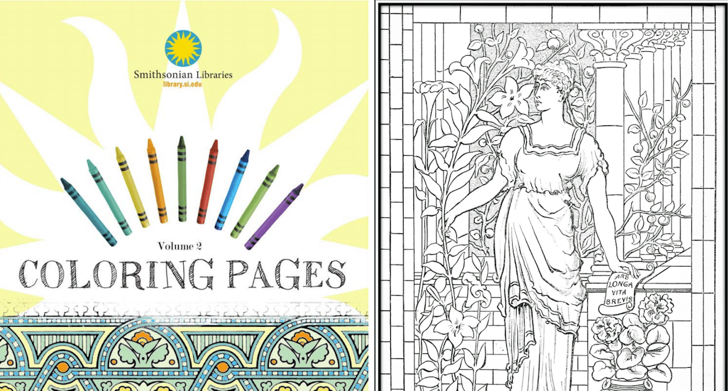 - 100's Of Museums Provide Adult Coloring-In Books To Download FOR