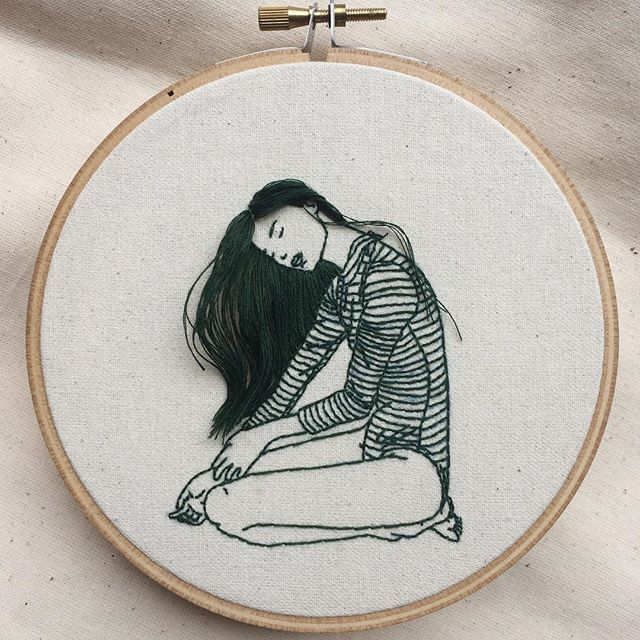 Artist Creates Flowing Hair In Her Beautiful Hand Embroidery Artfido