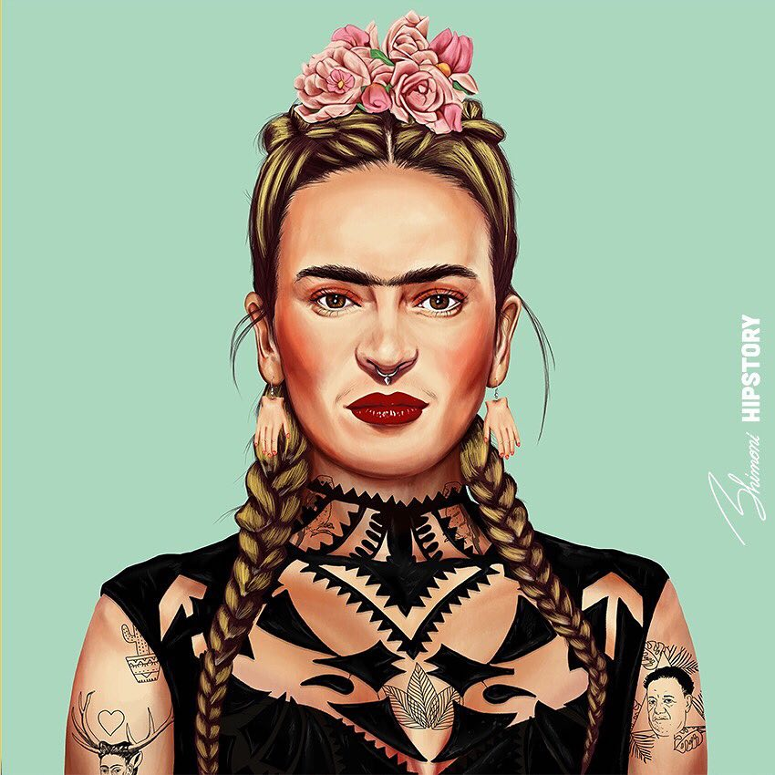 Cheeky Illustrator Reimagines Iconic Artists as Modern-Day ...
