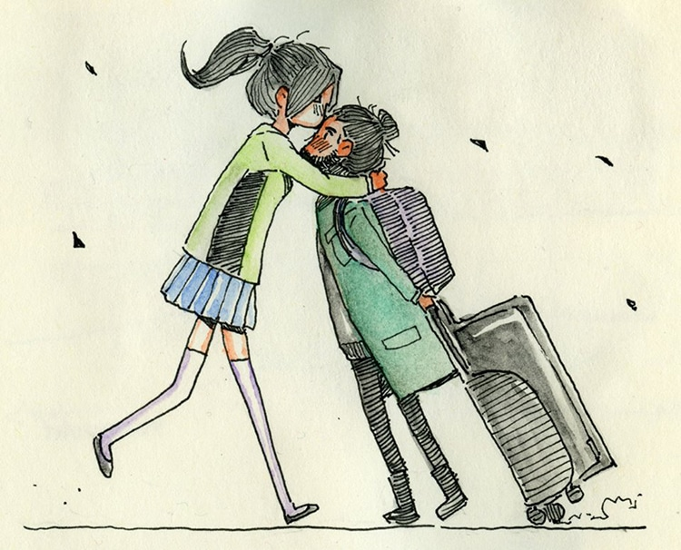 Artist Documents The First Time He Meets His Long Distance