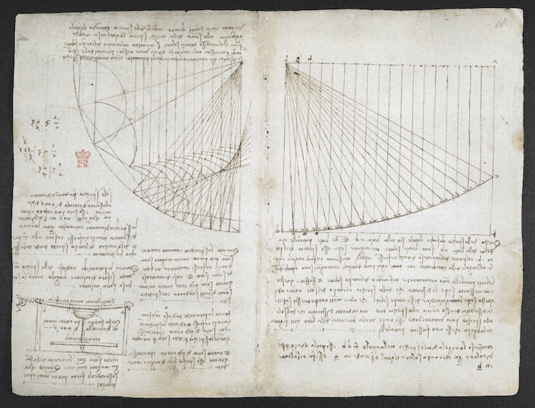 Library Puts Leonardo Da Vinci's Notebooks Online For Free So You Can Go Inside the Mind of a Genius artFido