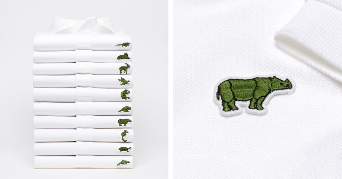 5a96b69c8aa6 Lacoste Replaces It s Crocodile Logo With 10 Endangered Species To Raise  Awareness